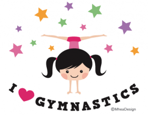 I love gymnastics gymnast girl doing handstand and sidesplits surrounded by stars 300x232 - Elegant Dark Girls with Blond Hair