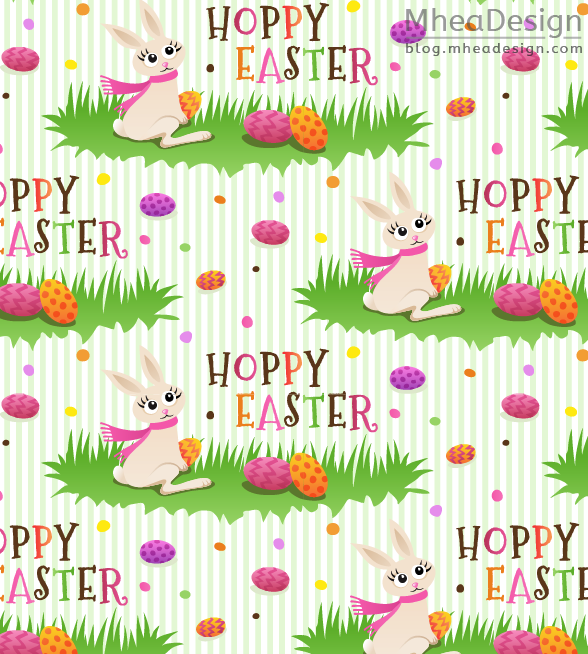 Cute easter wrapping paper seamless pattern stock vector image 2 hoppy easter pattern with cute bunny rabbit new wrapping paper negle Images